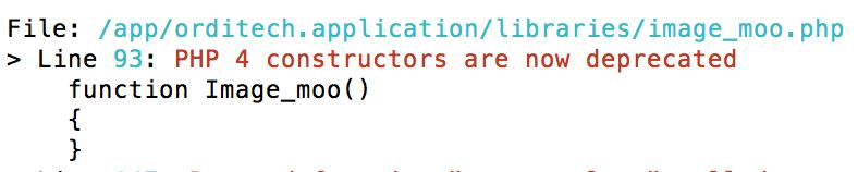 exemple erreur php4 constructeur