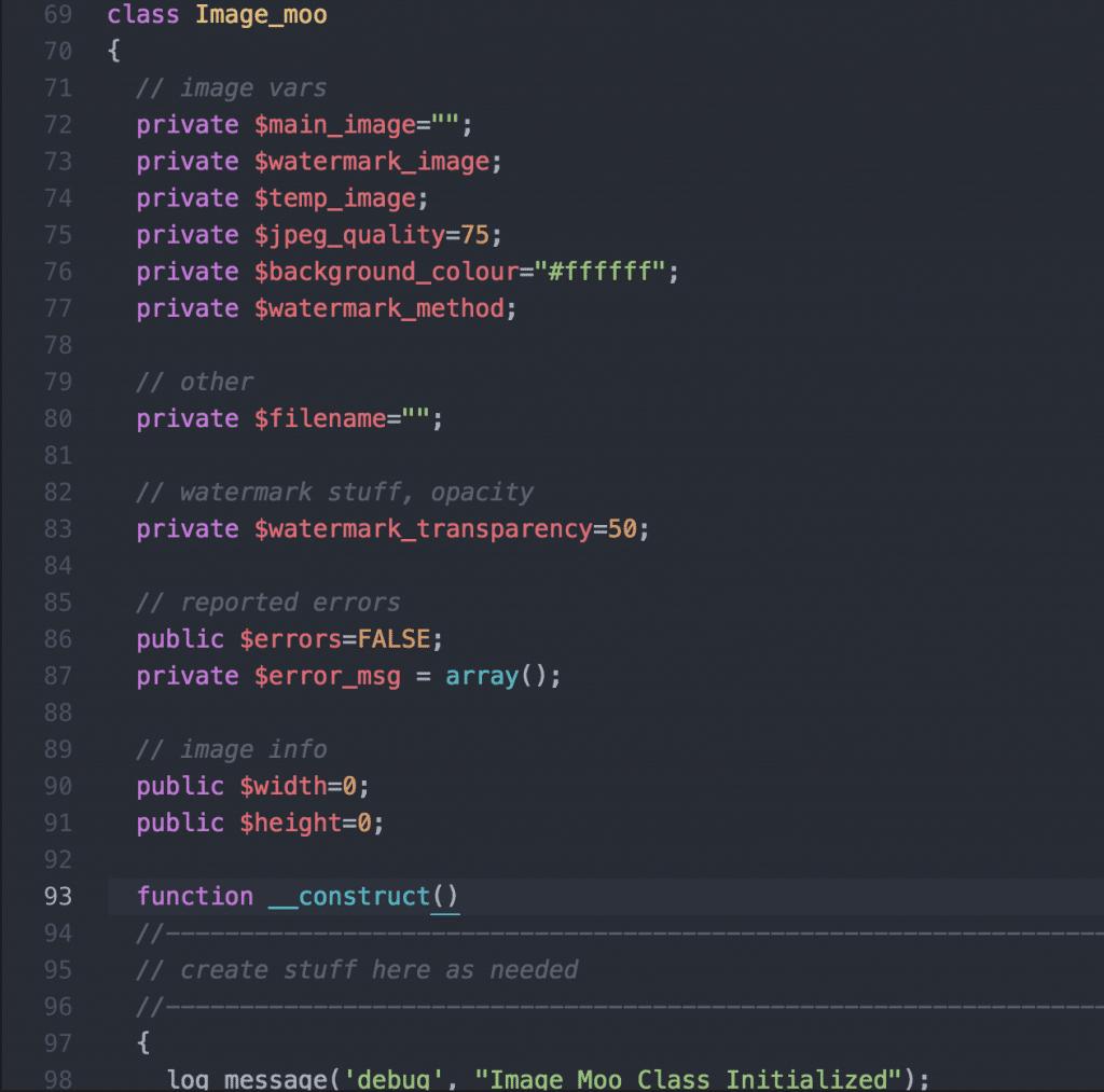 remplacement par __construct